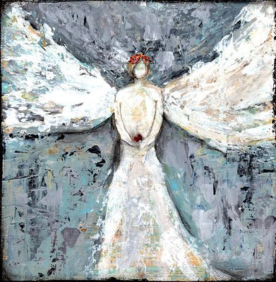 """""""Angel guiding You"""" Print on Wood and Print to be Framed"""