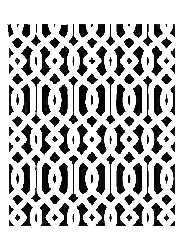 European Lines 8x10 stencil