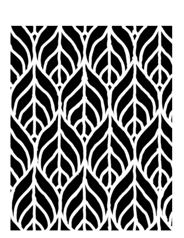 Geometric leaves stencil 8x10