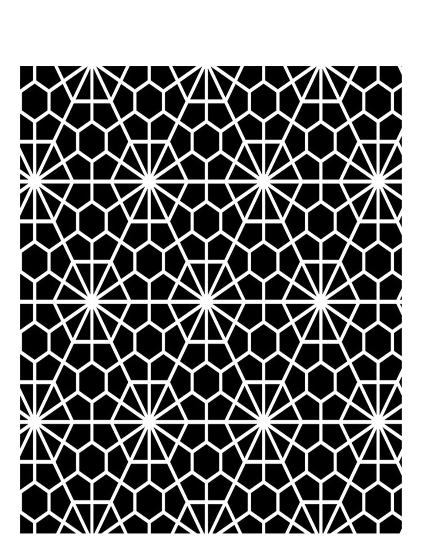 Geometric flower stencil 8x10