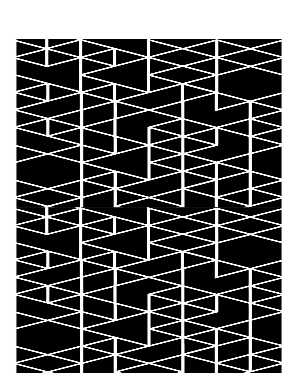Geometric triangles stencil 8x10
