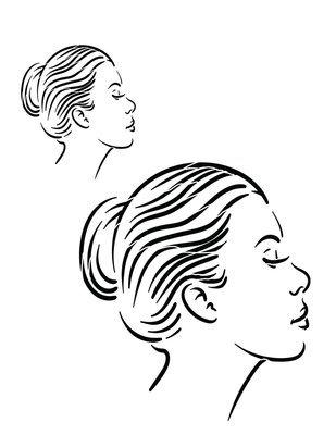 Faces 2 side view 12x16 stencil
