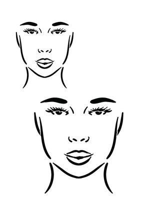 Faces 3 straight ahead 12x16 stencil
