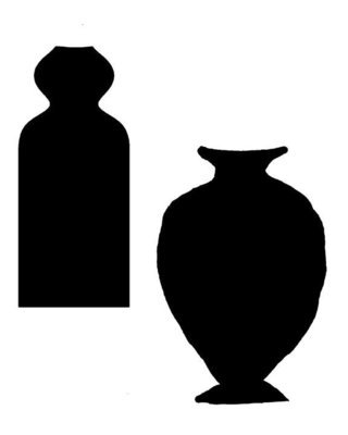 Vases large with masks stencil 12x12