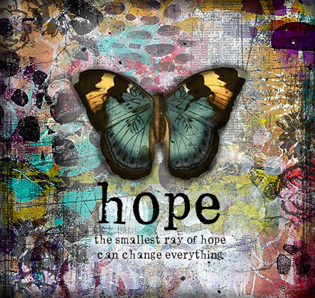 """""""Hope the smallest ray of Hope"""" Print on Wood and Print to be Framed"""