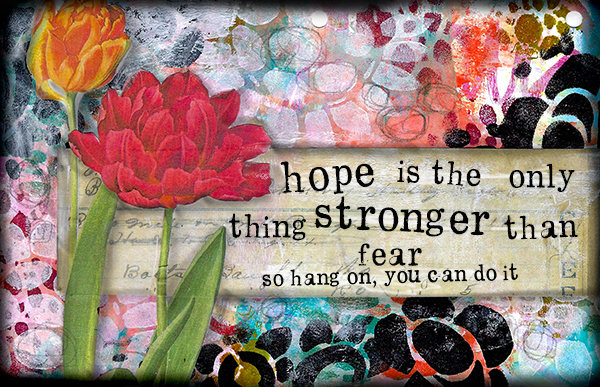 """Hope is the thing stronger than Fear"" Print on Wood and Print to be Framed"