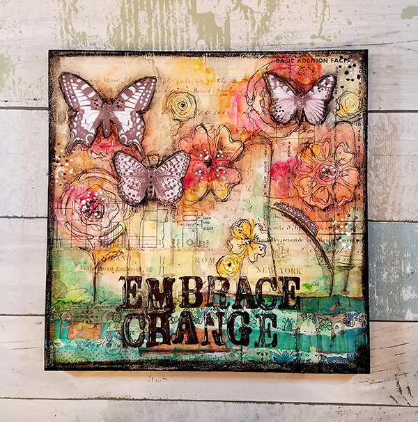 """""""Embrace Change"""" Print on Wood and Print to be Framed"""