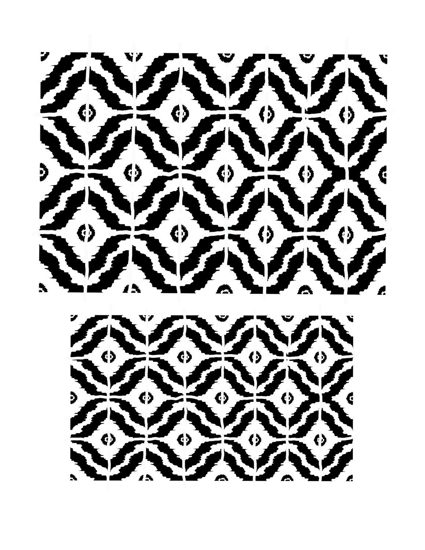 Pattern 4 stencil 8x10