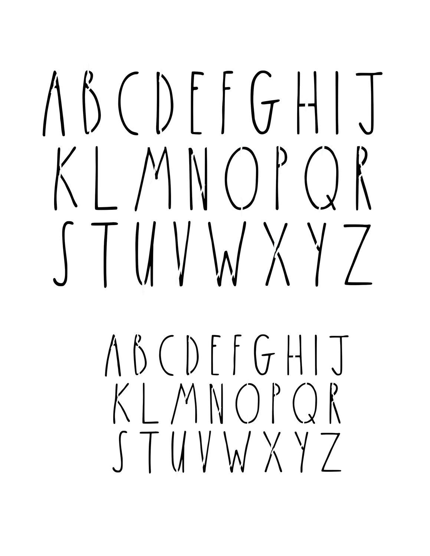 Skinny font 8x10