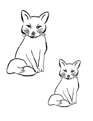Woodland creatures Fox 8x10