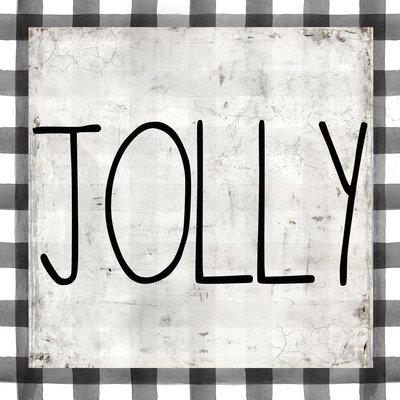 """""""Jolly"""" black and white plaid Print on Wood and Print to be Framed"""