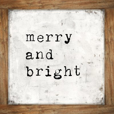 """""""Merry and Bright"""" rustic frame, Print on Wood and Print to be Framed"""