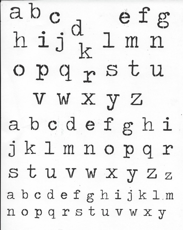 Old type text stencil 8x10