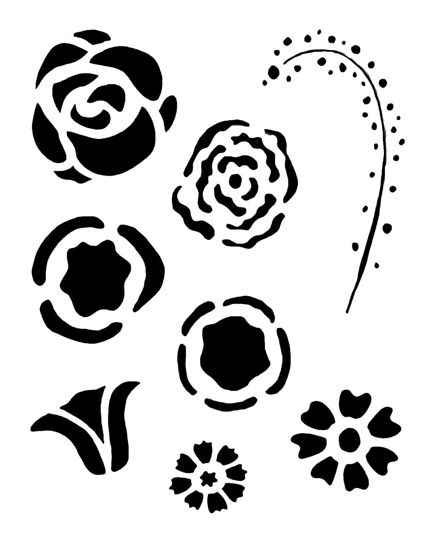 Flower Gang 3 12x16 Stencil