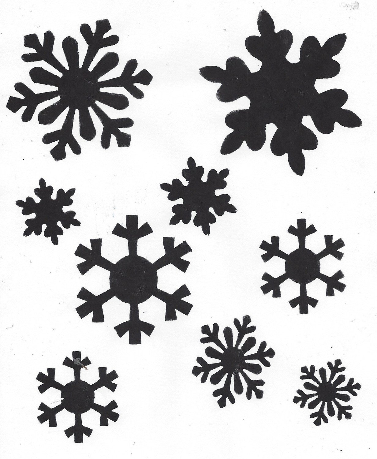 Snowflakes with masks stencil 8x10