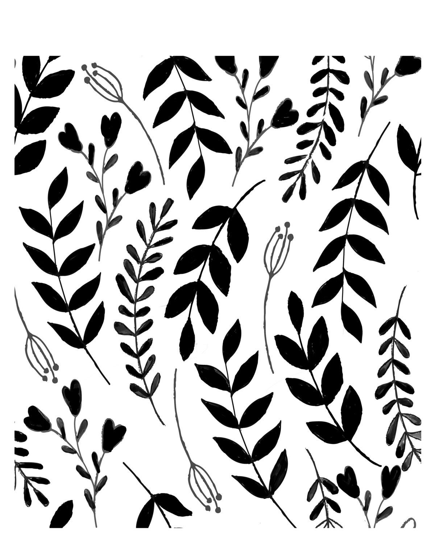 In the Garden Stencil 8x10