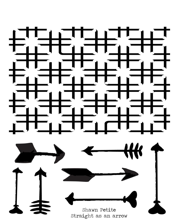 Straight as an arrow stencil 8x10