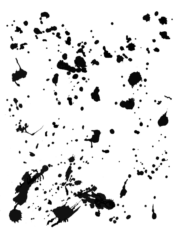 Splatters stencil 8x10