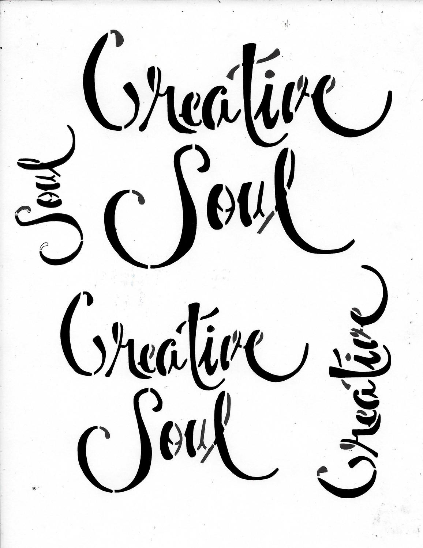 Creative Soul 8x10 stencil