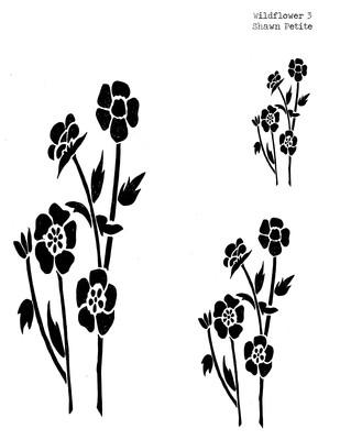 Wildflower 3 stencil 12x16