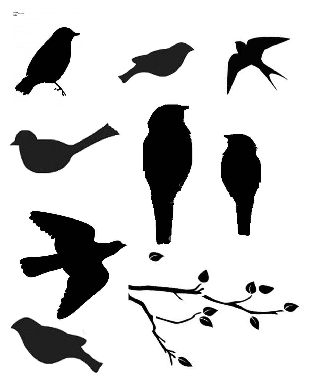 Birds, Birds, Birds with masks 8x10 stencil