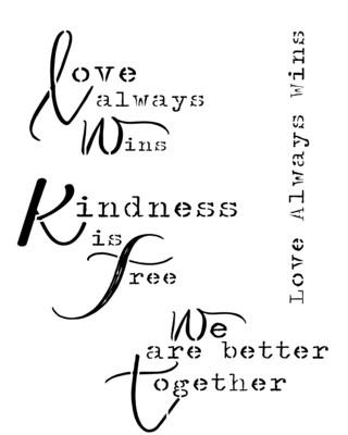 Love always wins 12x16 Stencil