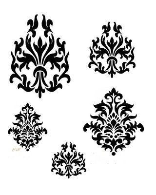 Damask Duo 12x16 Stencil