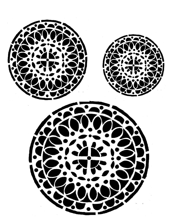 Mandala  Stencil 8x10
