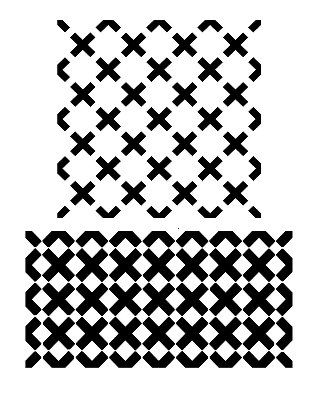 Criss Cross 8x10 stencil