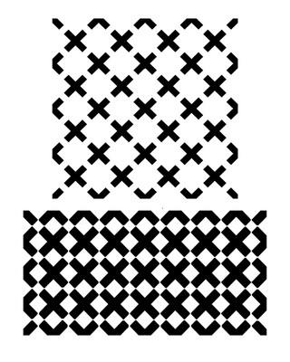 Criss Cross 12x16 stencil