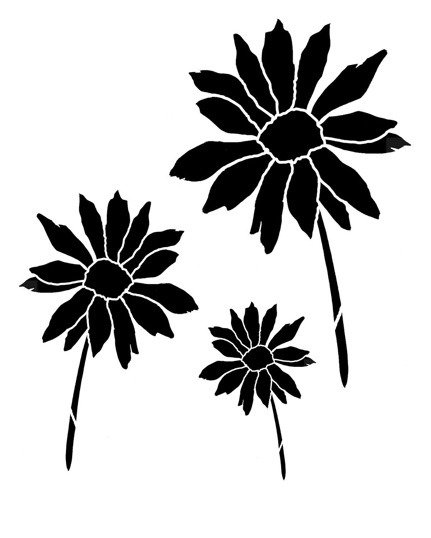 Daisy 2 8x10 stencil