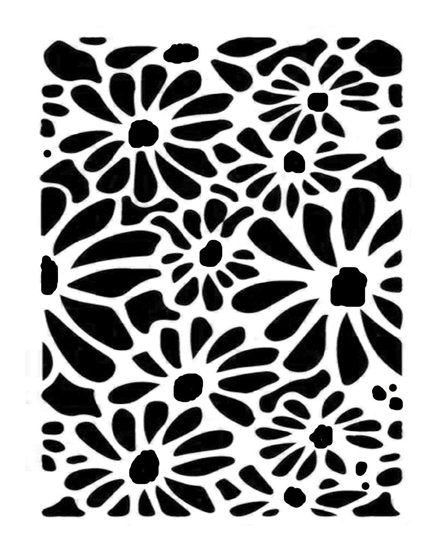 Daisy 3 8x10 stencil
