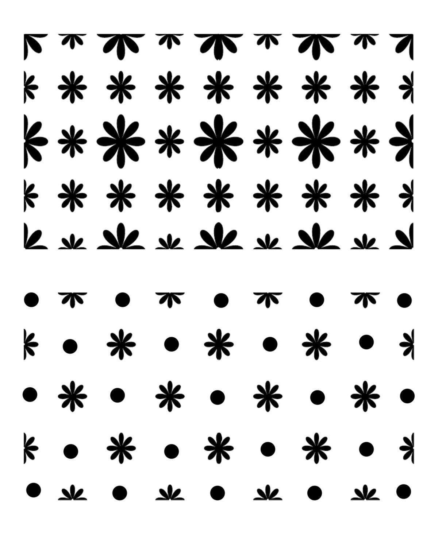 Little Flowers stencil 8x10