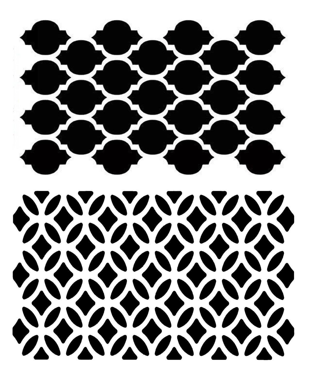 Mediterranean Duo 1 stencil 8x10