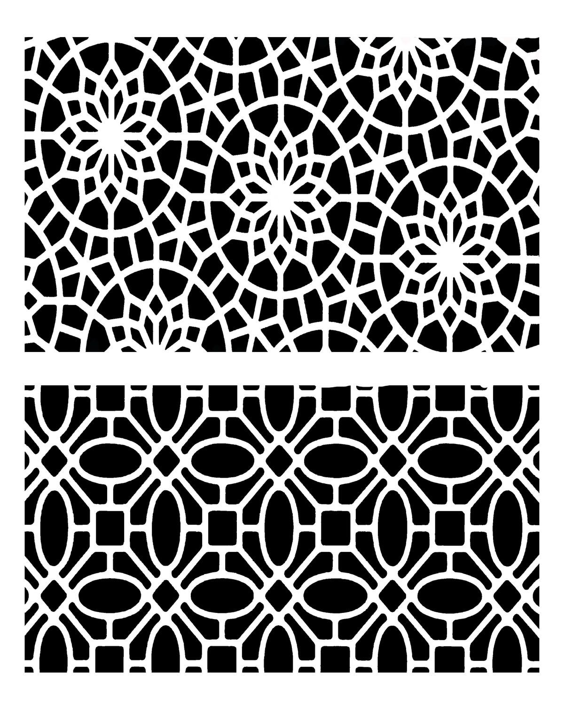 Mediterranean Duo 2 stencil 8x10