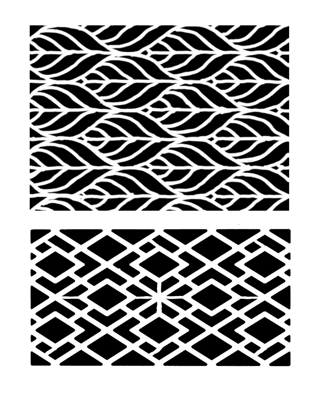 Geometric Duo stencil 8x10