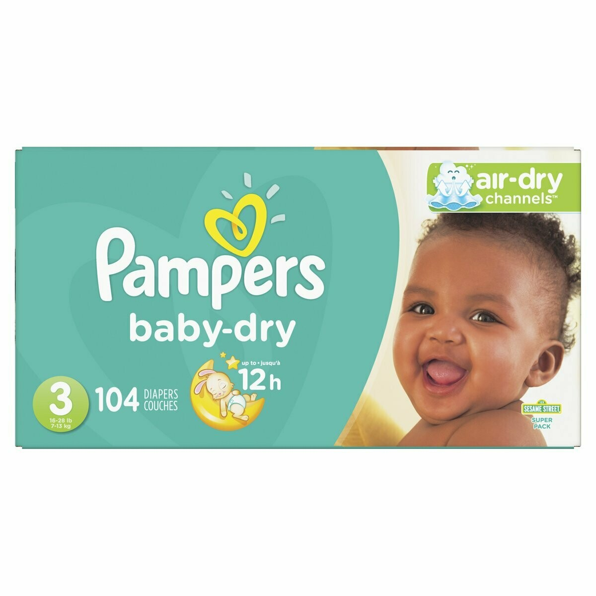 Pampers talla 3 (104 unidades)