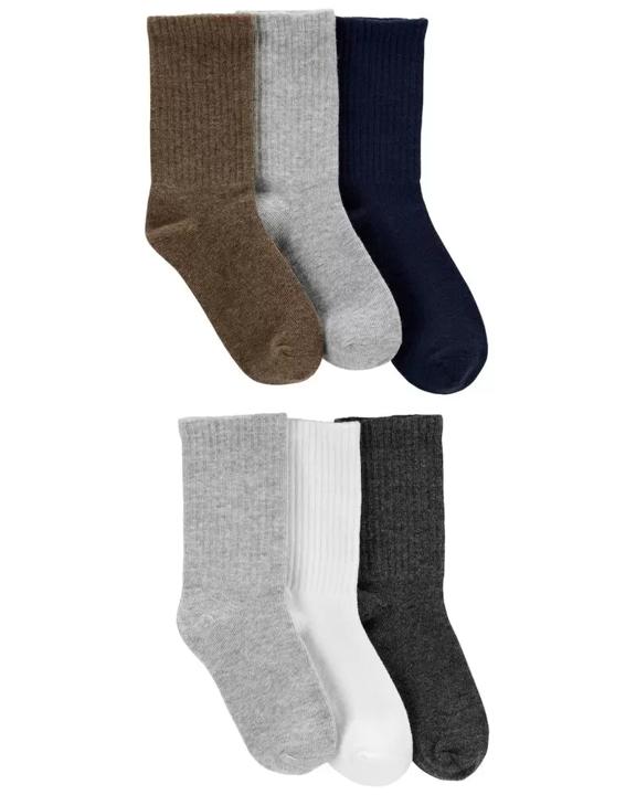 Set 6 pares de calcetines, Niños de 4 a 8 años