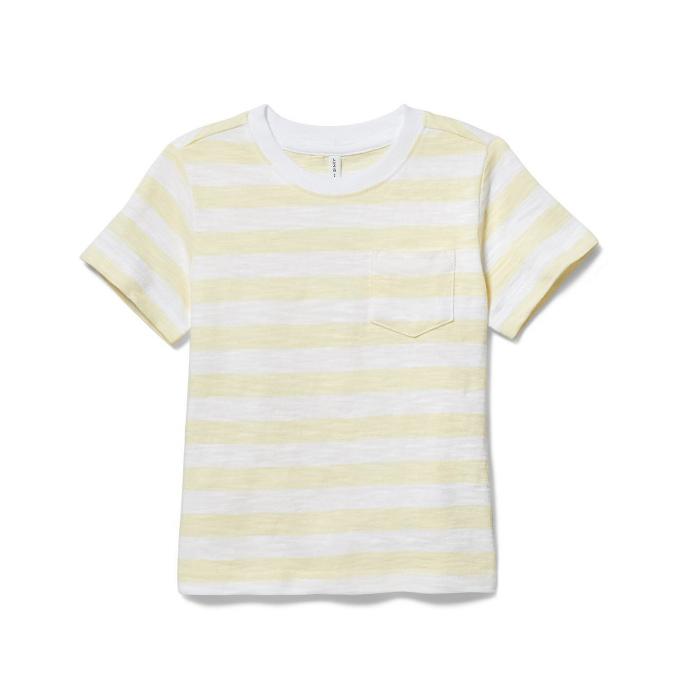 Blusa de rayas amarillas, talla 10T