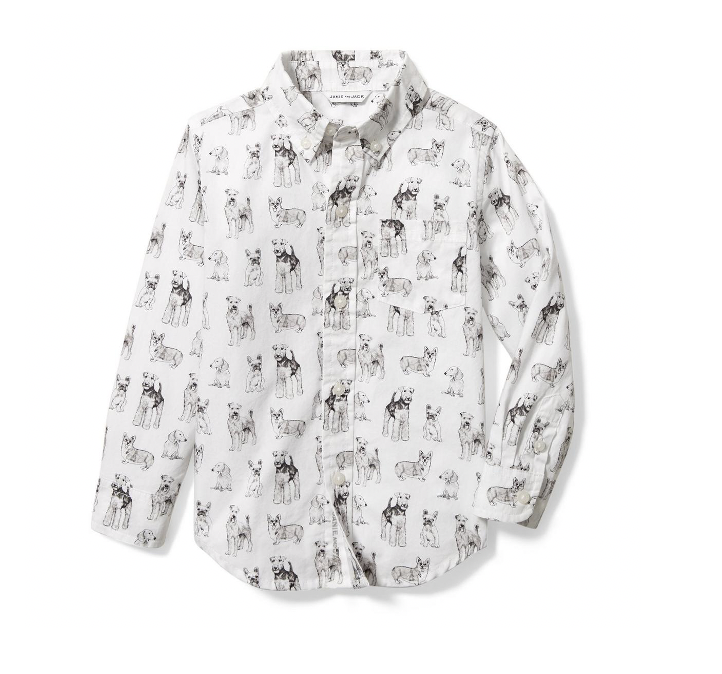 Camisa manga larga blanca, Talla 4T