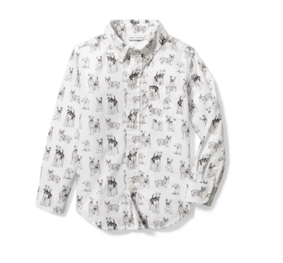 Camisa manga larga blanca, Talla 10T