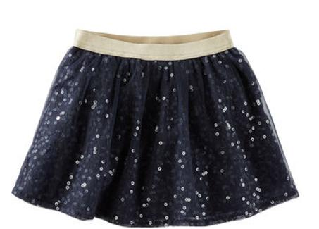falda lentejuelas, 2 años
