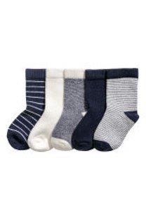 Set 5 pares de calcetines, 6-12m