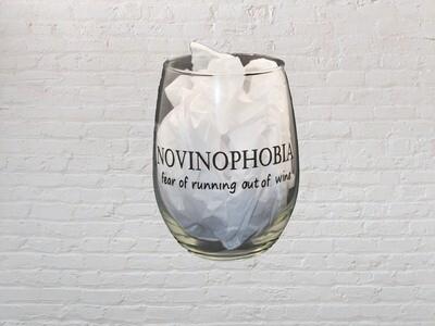 NOVINOPHOBIA Wine Glass