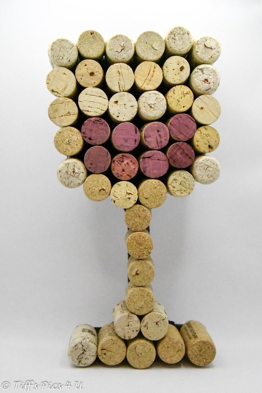 Wine Glass Cork Art