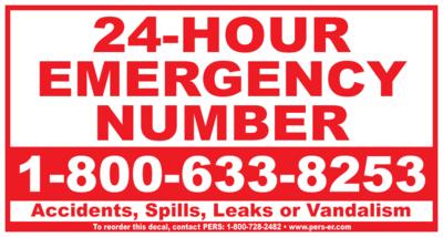 Vinyl - Emergency Number Decal 5.75