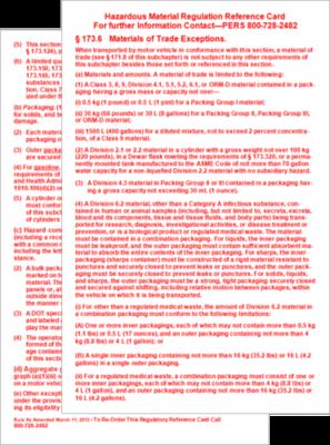 Materials of Trade (MOT) Info Card