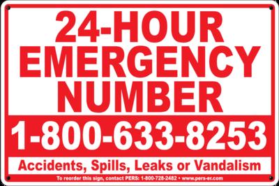 Composite Aluminum Emergency Number Sign 12