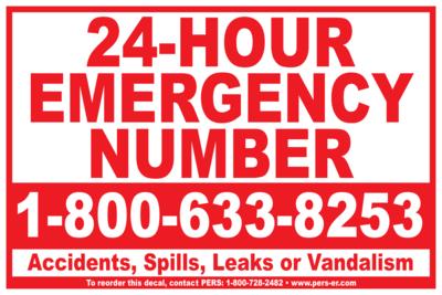 Vinyl - Emergency Number Decal 12