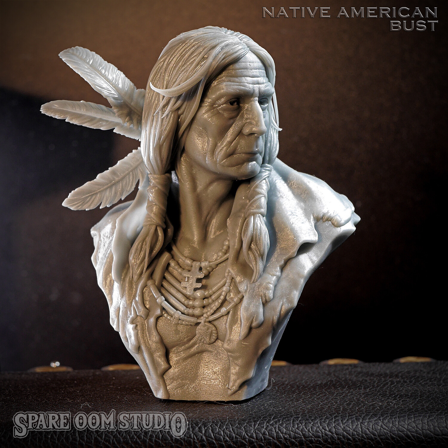 Native American bust STL